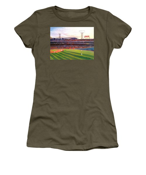 Fenway Park Women's T-Shirt (Junior Cut) by Rose Wang