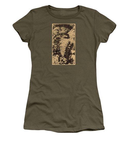 Fern Art No4 Women's T-Shirt (Junior Cut) by Bonnie Bruno