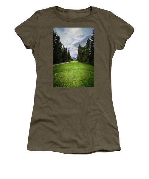 Women's T-Shirt (Junior Cut) featuring the photograph Fernie Tee Box by Darcy Michaelchuk