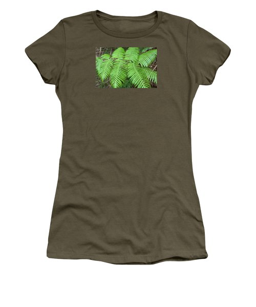 Ferns Women's T-Shirt (Junior Cut) by Karen Nicholson