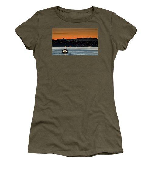 Ferry Sealth At Dawn Women's T-Shirt (Junior Cut) by E Faithe Lester