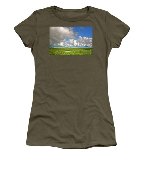 Women's T-Shirt (Junior Cut) featuring the photograph Field by Charuhas Images