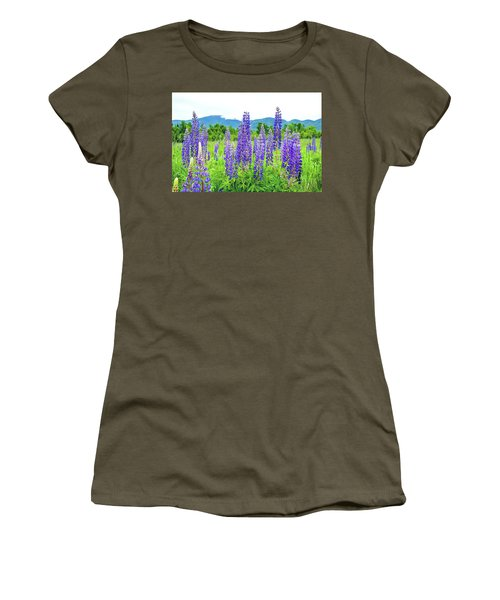 Women's T-Shirt (Junior Cut) featuring the photograph Field Of Purple by Greg Fortier