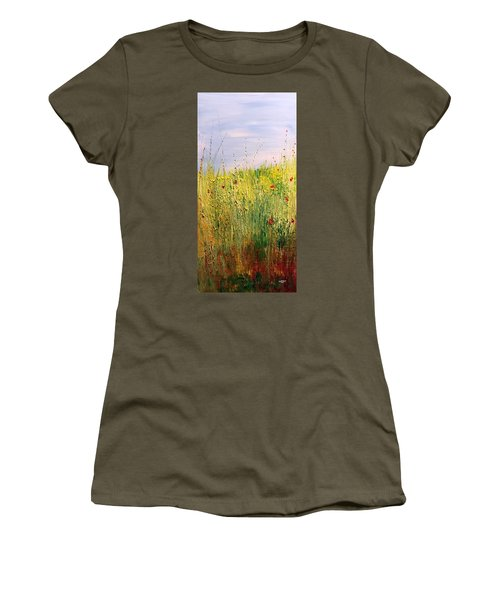 Field Of Wild Flowers Women's T-Shirt (Athletic Fit)
