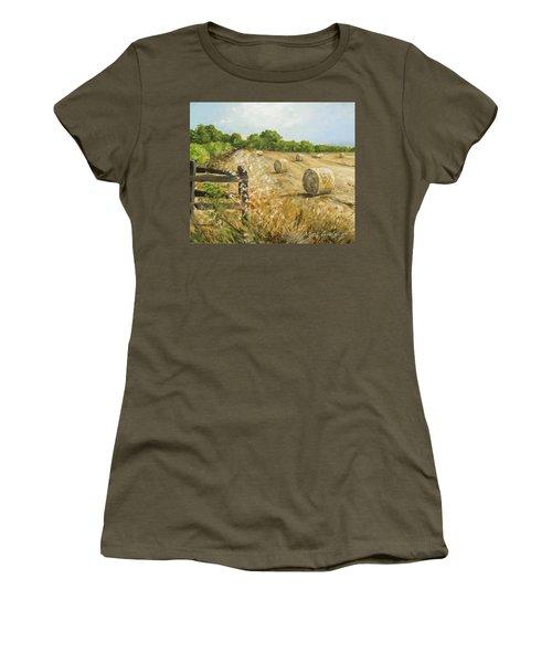Fields Of Hay Women's T-Shirt (Junior Cut) by Marty Garland
