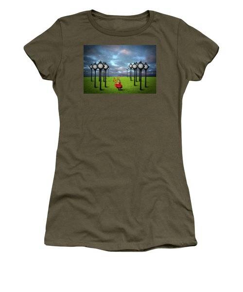 Women's T-Shirt (Junior Cut) featuring the digital art Fields Of Time by Nathan Wright