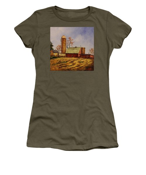 Fields Ready For Fall Women's T-Shirt (Athletic Fit)
