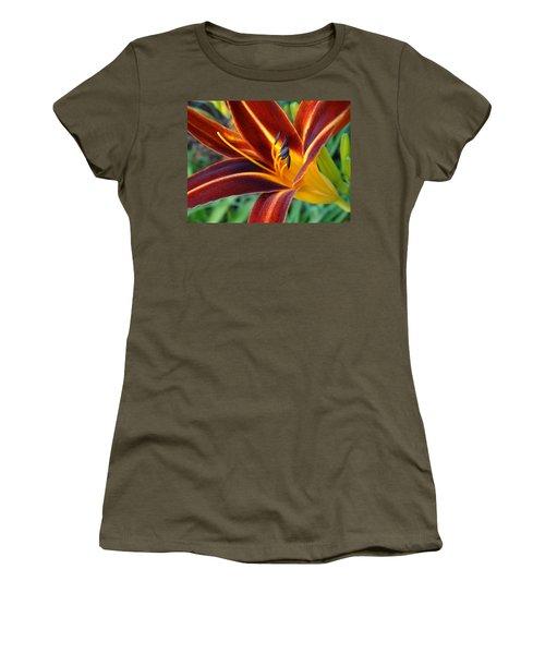 Fiery Lilies In Bloom Women's T-Shirt (Athletic Fit)