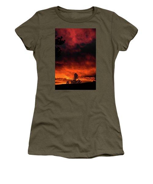Fiery Sky Women's T-Shirt (Athletic Fit)