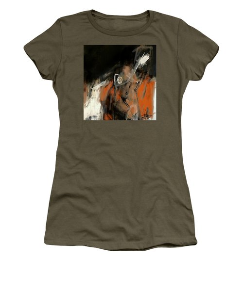 Women's T-Shirt (Athletic Fit) featuring the digital art Figure Abstract -  17sept2017 by Jim Vance