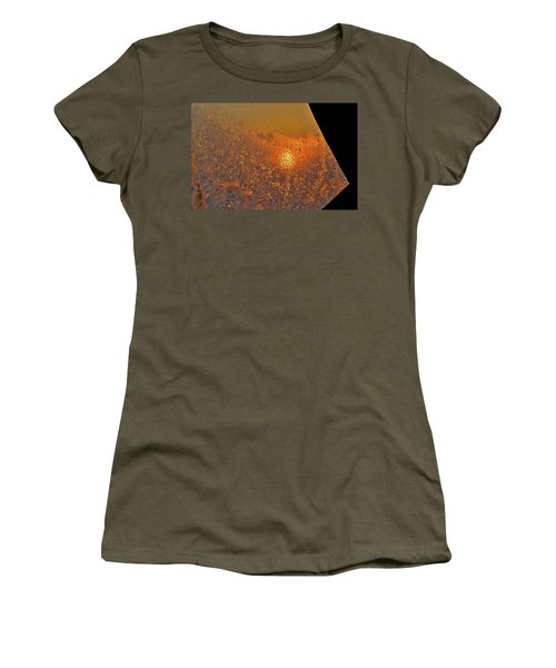 Women's T-Shirt (Junior Cut) featuring the photograph Fire And Ice by Susan Capuano