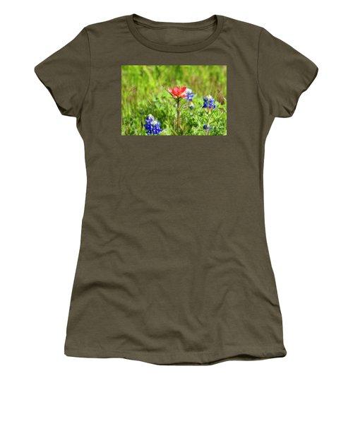 Fire Cracker Women's T-Shirt (Junior Cut) by Joan Bertucci