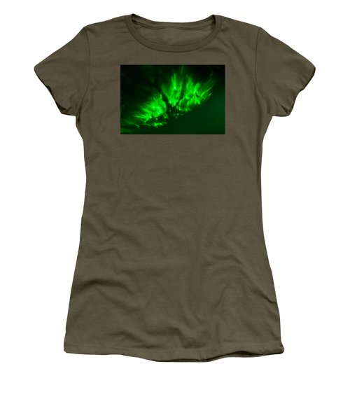 Women's T-Shirt (Athletic Fit) featuring the photograph Fire In The Sky by Greg Collins