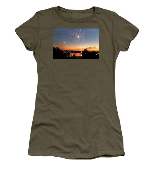 Fireworks And Sunset Women's T-Shirt