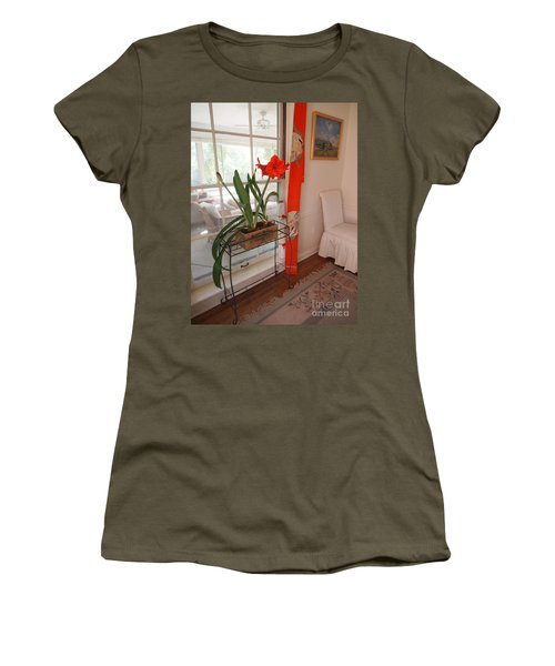 First There Was Red Women's T-Shirt (Junior Cut) by Nancy Kane Chapman