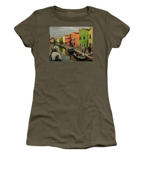 Fisherman At Work In Colorful Burano Women's T-Shirt