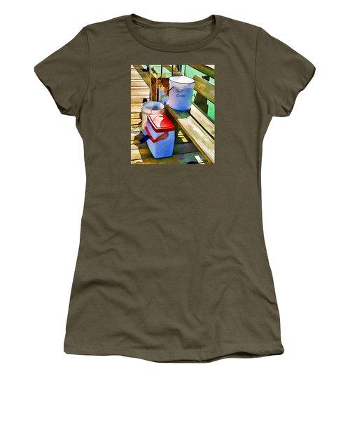 Fisherman's Buckets Women's T-Shirt (Junior Cut) by Rena Trepanier