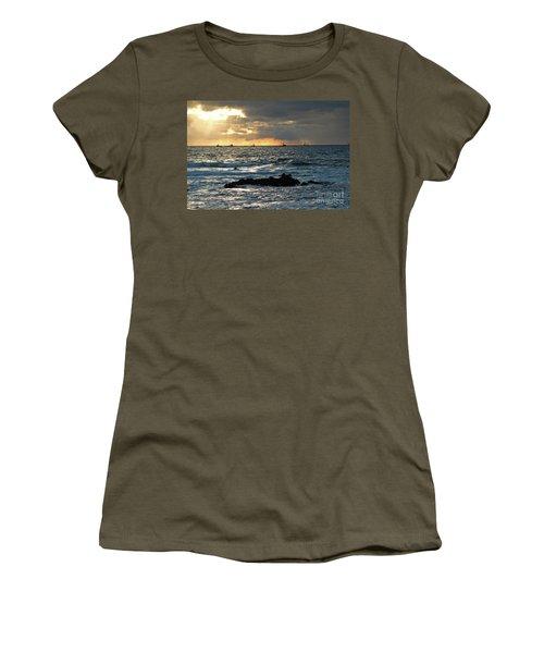 Fishing Boats Off Point Lobos Women's T-Shirt