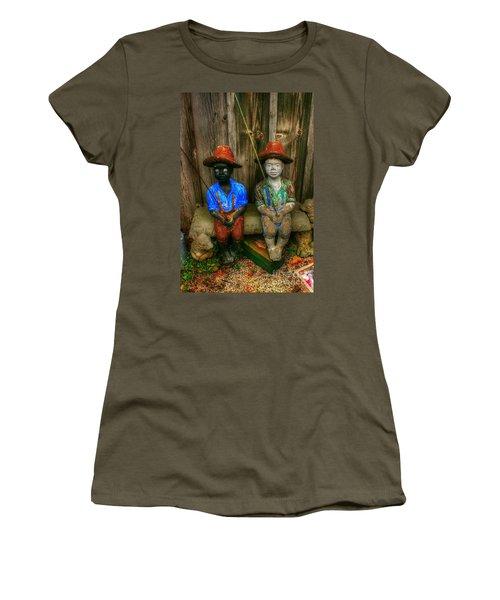 Fishing Buddies Women's T-Shirt (Athletic Fit)