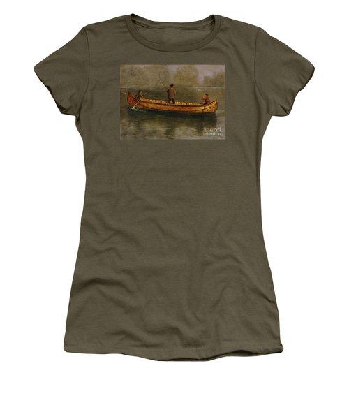 Fishing From A Canoe Women's T-Shirt