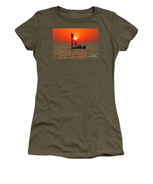 Fishing In Lacombe Louisiana Women's T-Shirt (Junior Cut) by Luana K Perez