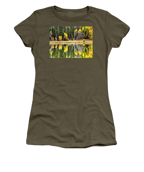 Fishing On Dream Lake Colorado Women's T-Shirt (Athletic Fit)