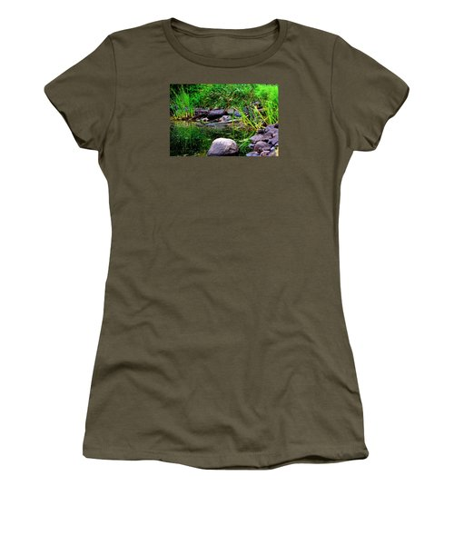 Fishing Pond Women's T-Shirt (Athletic Fit)