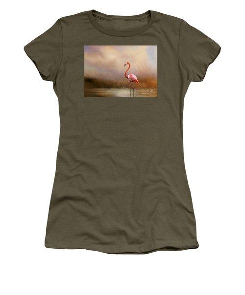 Flamingo Beauty Women's T-Shirt (Athletic Fit)