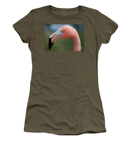 Flamingo Protrait Women's T-Shirt (Athletic Fit)