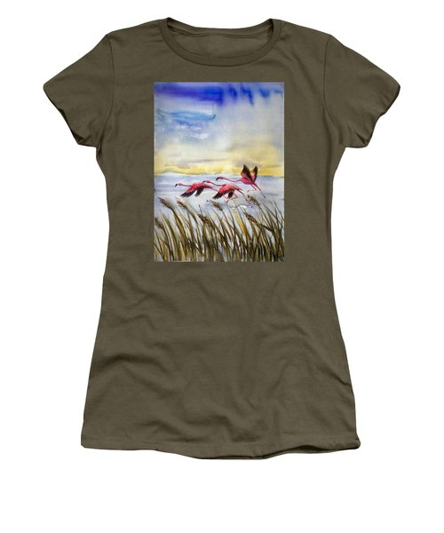 Flamingoes Flight Women's T-Shirt