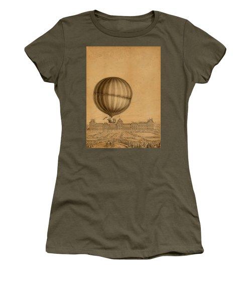 Flight Over Paris Women's T-Shirt (Athletic Fit)
