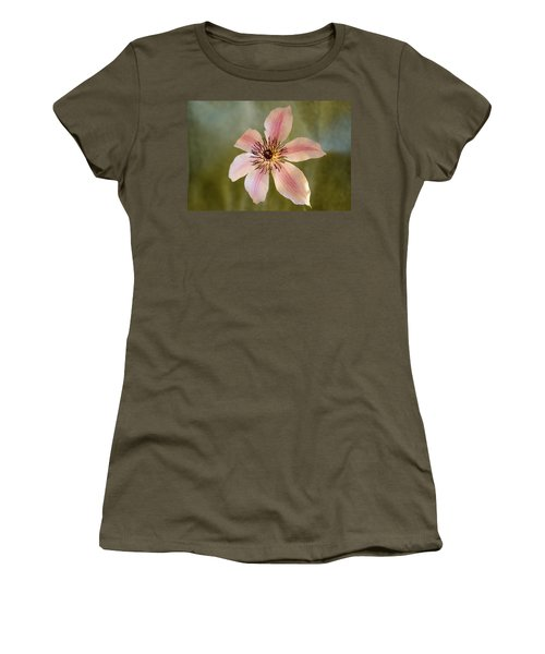 Floating Clematis Blossom Women's T-Shirt (Athletic Fit)