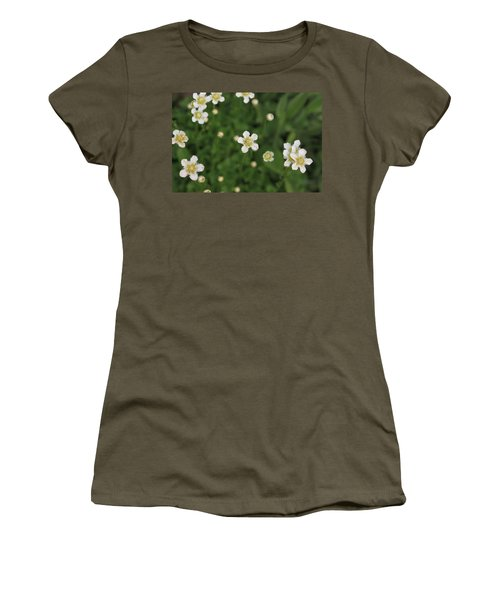 Women's T-Shirt (Junior Cut) featuring the photograph Floating In Green by Shari Jardina
