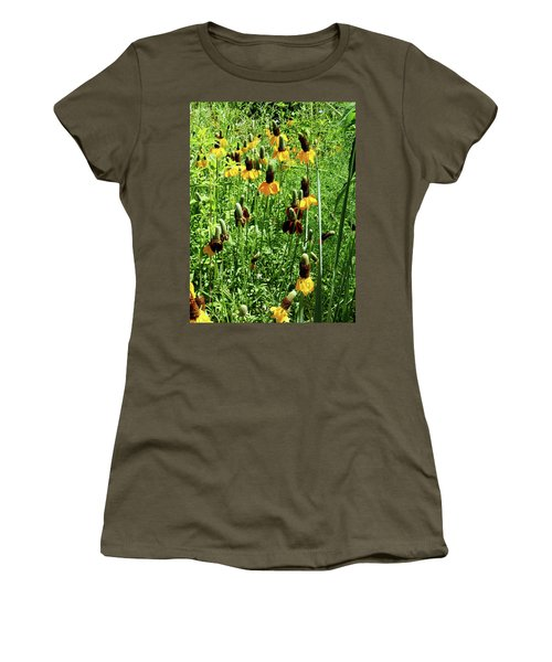 Floral Women's T-Shirt (Athletic Fit)