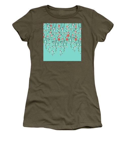 Floral Dilemma Women's T-Shirt (Junior Cut) by Uma Gokhale