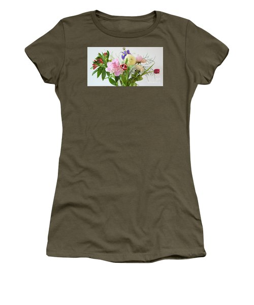 Women's T-Shirt (Athletic Fit) featuring the photograph Floral Display by Wendy Wilton