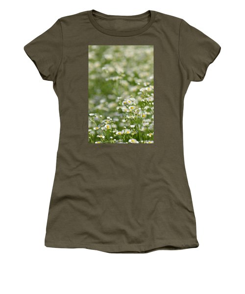 Floral Field #1 Women's T-Shirt (Athletic Fit)