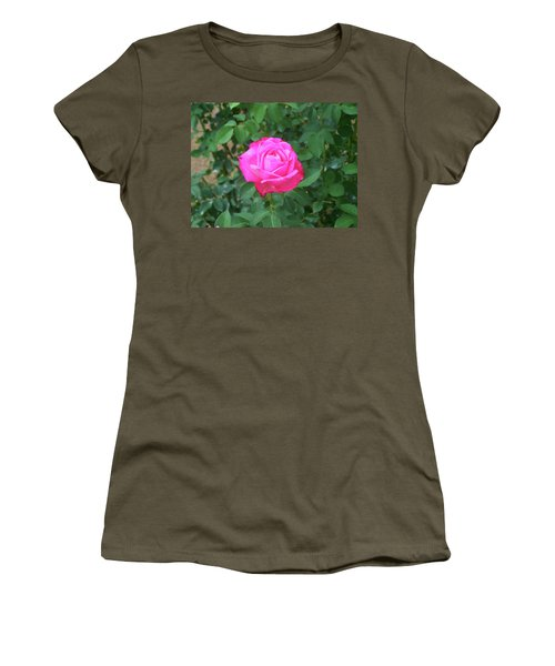 Women's T-Shirt (Athletic Fit) featuring the painting Floral Print 100 by Chris Flees