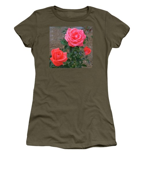 Women's T-Shirt (Athletic Fit) featuring the painting Floral Print 103 by Chris Flees