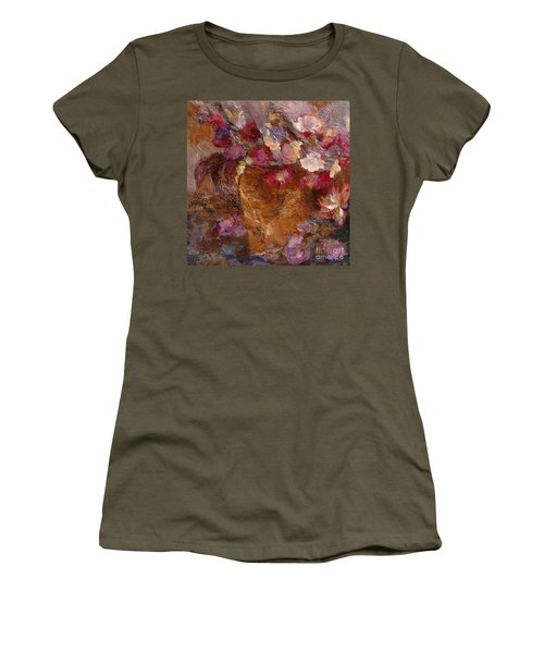 Floral Still Life Pinks Women's T-Shirt (Athletic Fit)