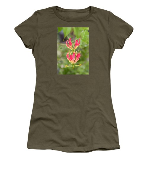 Floral Twirlers Women's T-Shirt (Athletic Fit)