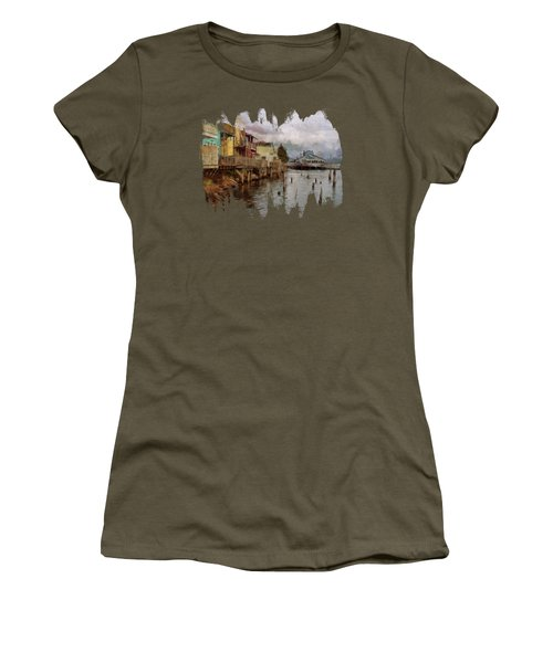 Scene On The Siuslaw  Women's T-Shirt (Athletic Fit)