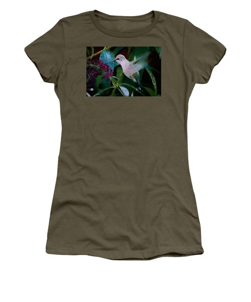 Flower And Hummingbird Women's T-Shirt (Athletic Fit)