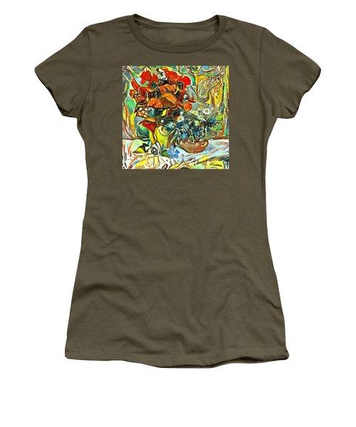 Flower Burst Women's T-Shirt (Athletic Fit)