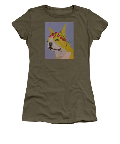 Flower Dog 5 Women's T-Shirt (Athletic Fit)