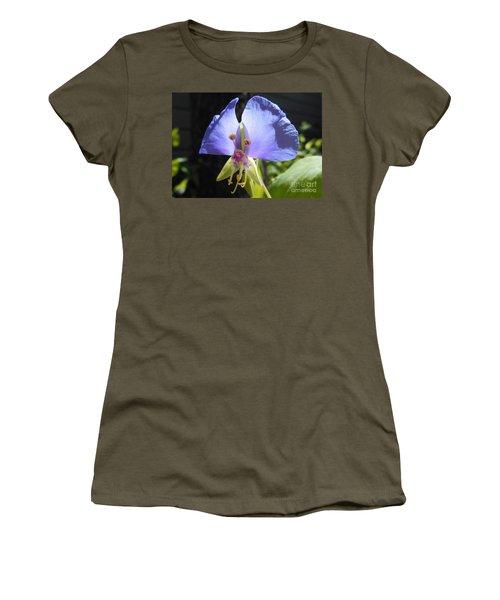 Flower Face Women's T-Shirt (Junior Cut) by Felipe Adan Lerma