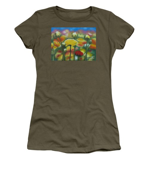 Flower Focus Women's T-Shirt (Athletic Fit)