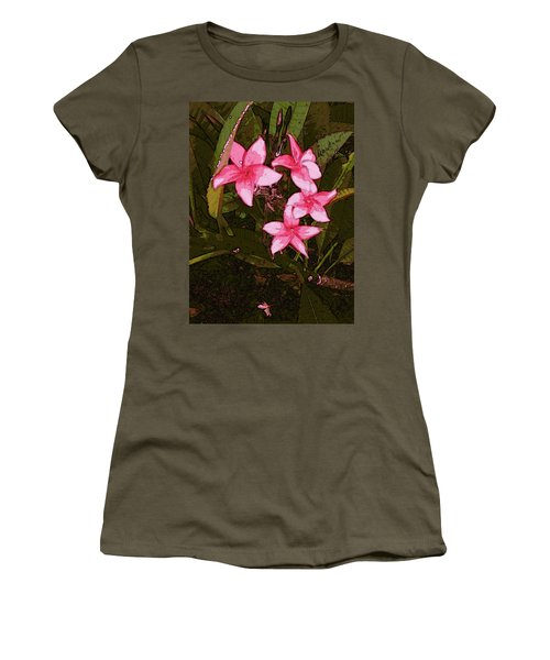 Women's T-Shirt (Athletic Fit) featuring the digital art Flower Gems by Winsome Gunning