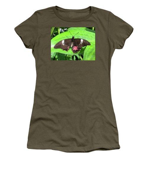 Flower Imprint On Wing Women's T-Shirt