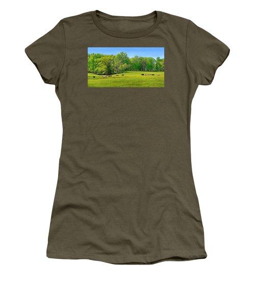 Flowering Cow Pasture Women's T-Shirt